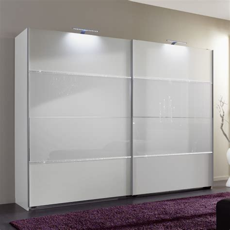 Bedroom Glass Wardrobe Sicily Sliding Wardrobe In Alpine White And Glass Rhine