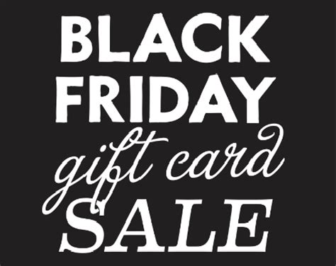 Gift Cards On Sale - black friday gift card sale hotel congress