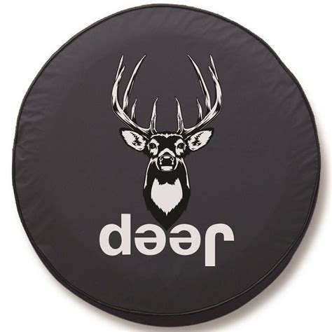 Tire Covers For Jeeps Deer Jeep Tire Cover On Black Vinyl