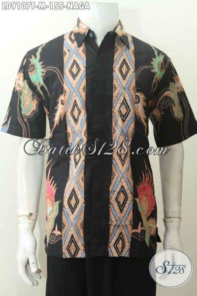 Batik Tulis Asli Naga hem batik tulis motif naga kemeja batik halus cocok untuk kerja hadir dengan warna hitam