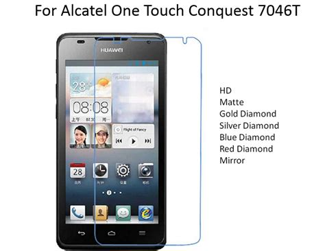 Hp Alcatel Onetouch Conquest for alcatel one touch conquest 7046t hd matte mirror screen protector guard 10pcs