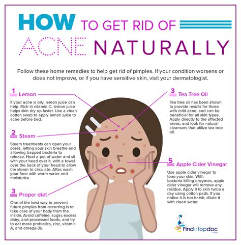 Get Rid Of Acne by How To Get Rid Of Acne Naturally Findatopdoc