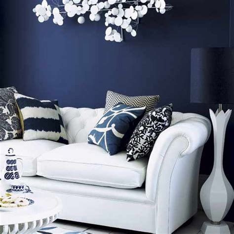 navy blue living room decor fab color combo navy and white