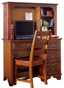 Cherry Student Desk Lea Deer Run Student Desk With Hutch And Chair In Brown