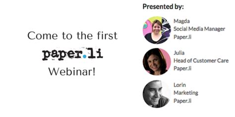 Paper L - webinar stand out with great content from paper li