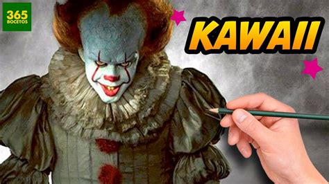 imagenes de terror kawai como dibujar a it estilo kawaii dibujos faciles como