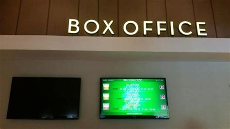 emirates bali office box office counter and display picture of beachwalk xxi