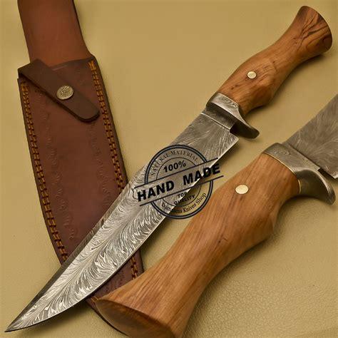 Custom Handmade - custom handmade damascus steel damascus bowie knife