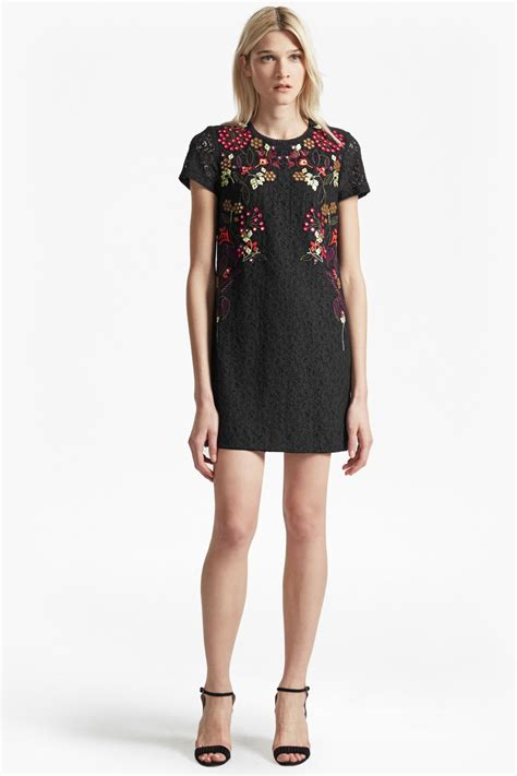 legere lace floral embroidered tunic dress collections connection