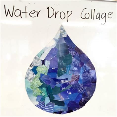 water themed crafts for water drop collage proyectos que debo intentar