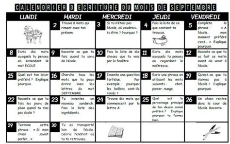 Calendrier 5e Journée Liga Calendrier D 233 Criture Ce1 Ce2 233 Criture Expression