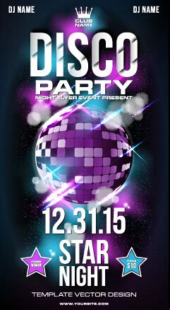 template flyer disco party summer disco night party flyer free vector in encapsulated