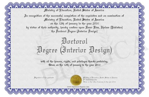 doctorol degree interior design