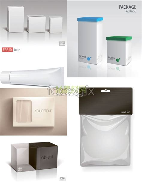 variety of product packaging template vector trend vectors