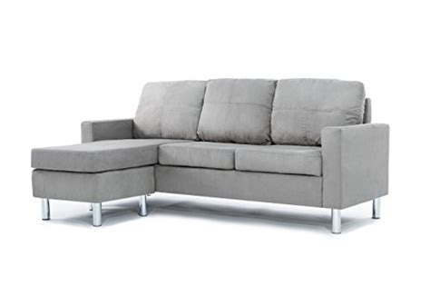 galleon modern microfiber sectional sofa small space