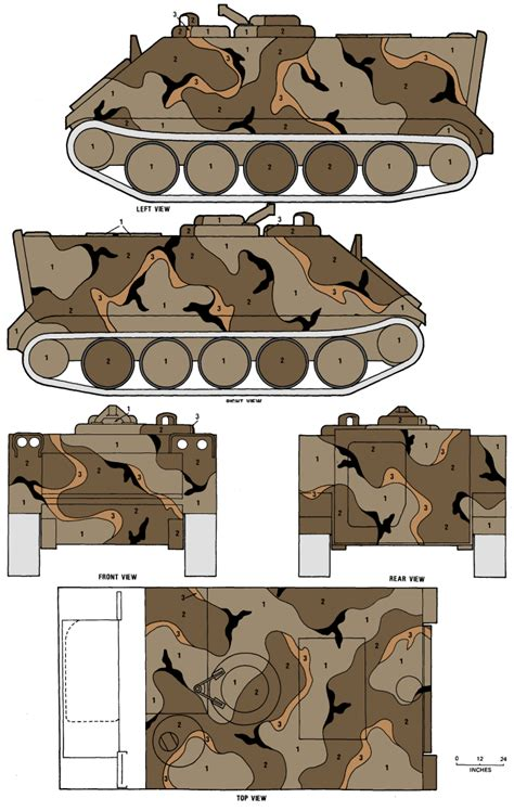 m113 apc merdc gray desert camouflage color profile and paint guide