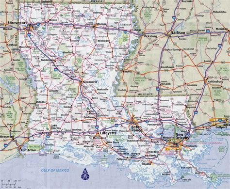 map of louisiana cities large detailed roads and highways map of louisiana state