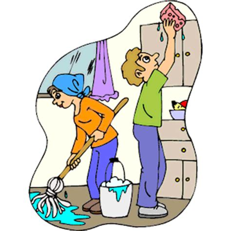Cleaning Kitchen Clipart Cliparts Of Cleaning Kitchen