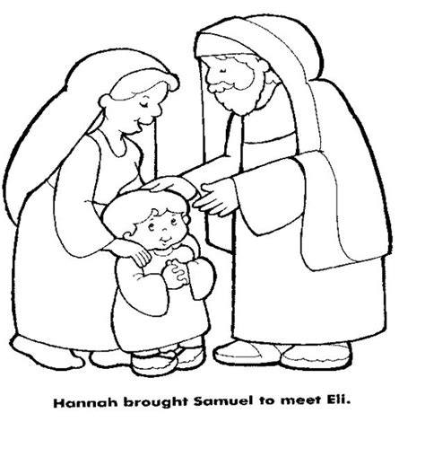 Hannah Brought Samuel To Eli Sunday School Pinterest Samuel And Eli Coloring Page