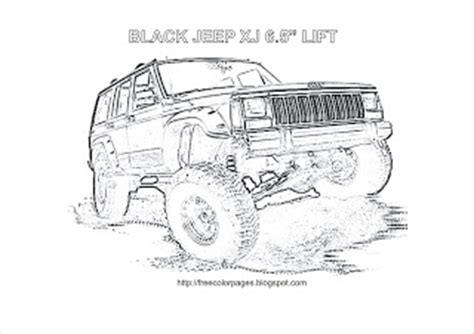 coloring pages jeep grand cherokee coloring pages car coloring jeep xj 6 5 quot lift coloring