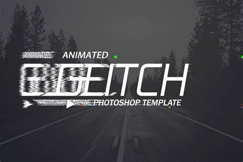motion text templates gif animated glitch photoshop templates by safisakran