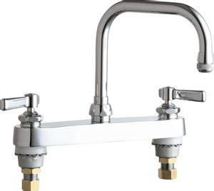 kitchen faucet connections chicago faucet double lever handle deckmount kitchen sink