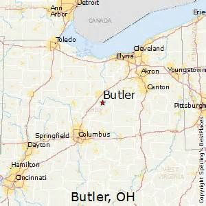 Butler Ohio Map by Best Places To Live In Butler Ohio