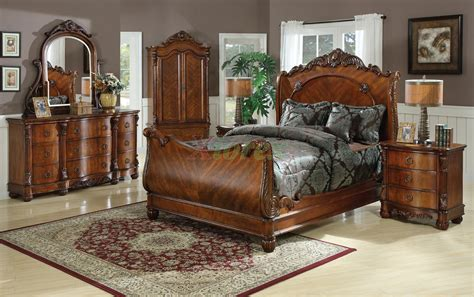 queen sleigh bedroom set leather sleigh bedroom set queen beddressermirrornight