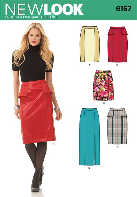 pattern review new look 6301 new look 6157 misses skirt