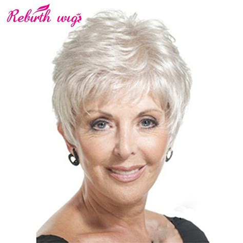 Real Hair Wigs For Older Ladies   Natural Wigs