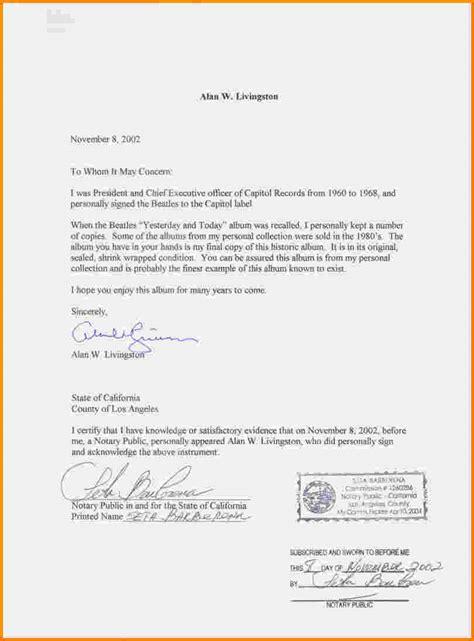 Reference Letter Notarized 11 Notarized Letter Sle Cashier Resume