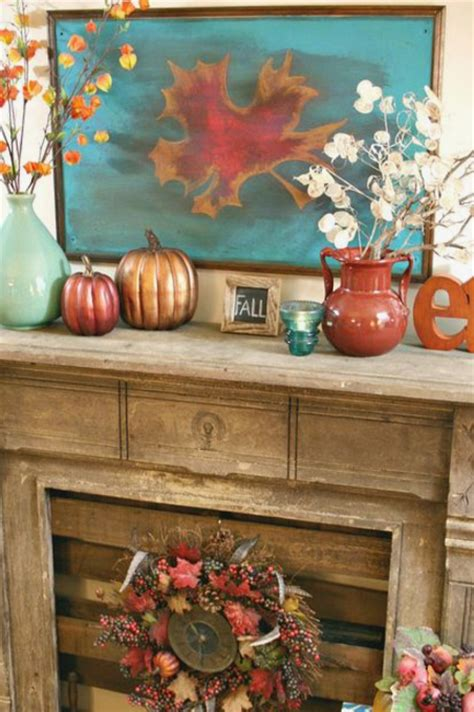 superior Elegant Mantel Decorating Ideas #4: Orange%20%26%20Turquoise%20Mantel.png?itok=_y9lYZYw