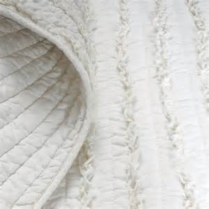 greenland home fashions ruffled quilt set in white