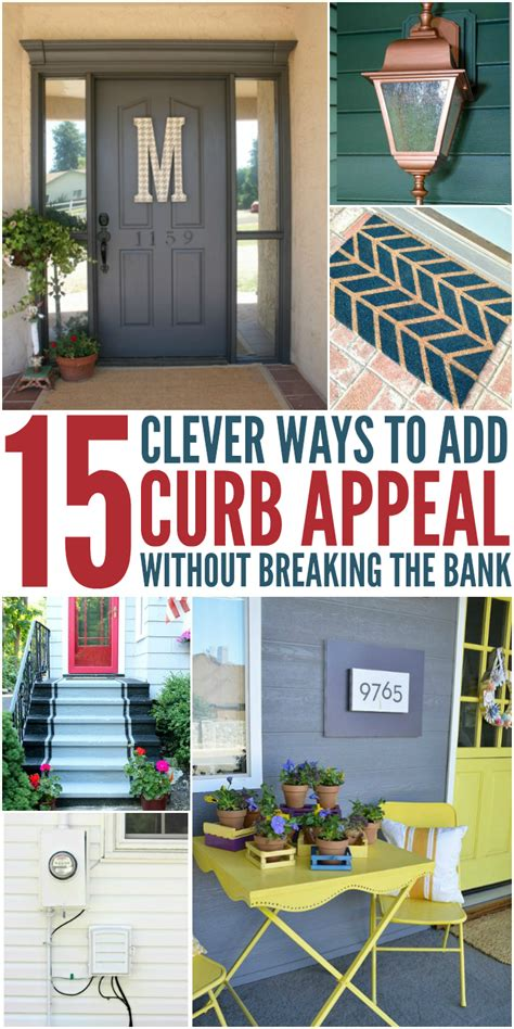 cheap ways to add curb appeal 15 clever ways to add curb appeal without breaking the bank