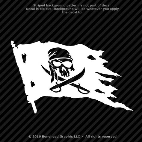 jolly roger boat decal pirate skull and swords flag jolly roger vinyl decal
