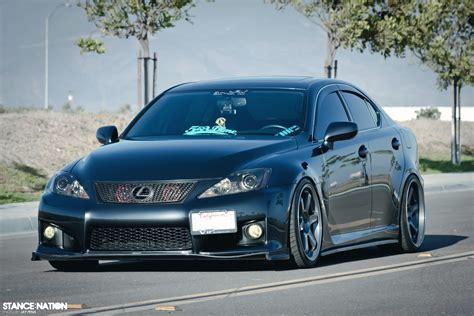 Stanced Lexus Is F