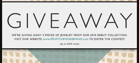 Giveaway Raffle - giveaway pre launch raffle primitive modernism blog