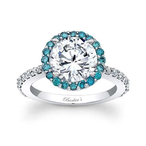 barkev s blue halo engagement ring 7839lbd