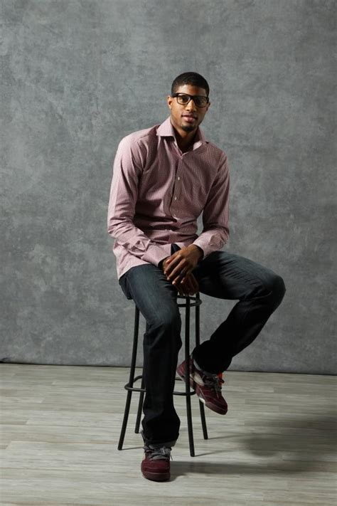 fashion for paul george part in hair style nba all star casual portraits 2012 sole collector