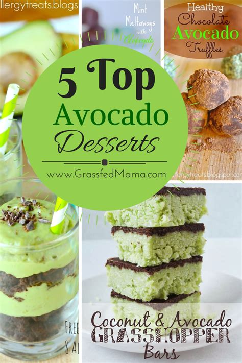 5 Sweet Recipes For Midweek by 5 Top Avocado Dessert Recipes Grassfed