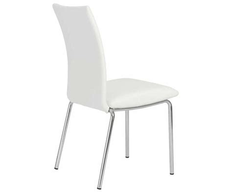 White Stackable Chairs modern white stacking chair estyle 613 modern chairs