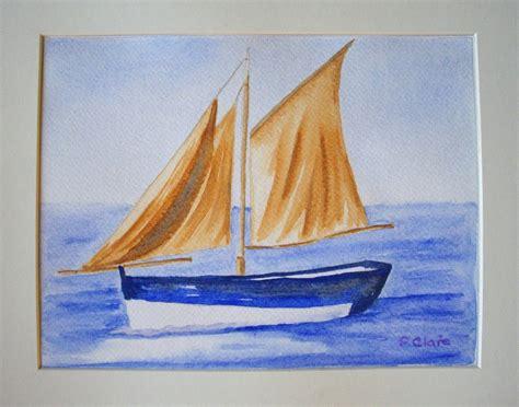 dessin d un bateau sur l eau tableau peinture bateau 10