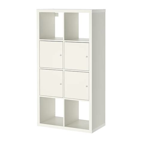 kallax shelving unit with doors ikea