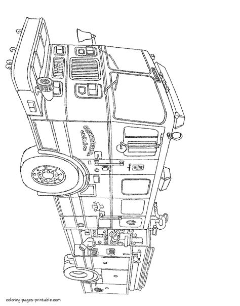 Fire truck coloring pages to print    COLORING-PAGES
