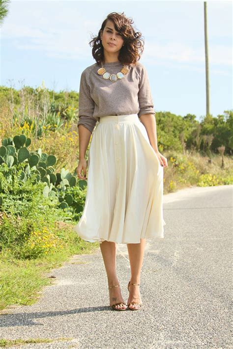 Fashion Advice How To Dress Like A Rock by 20 Style Tips On How To Wear Midi Skirts This Summer