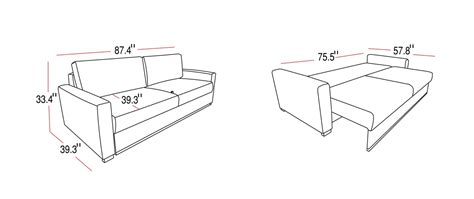 sofa bed measurements sofa bed dimensions thesofa