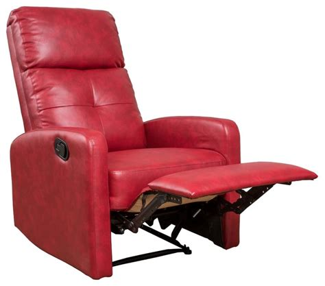 teyana red leather recliner club chair contemporary