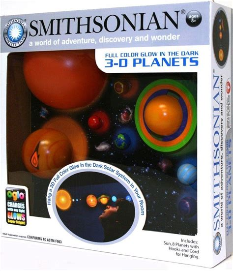 3d hanging solar system model glowing student