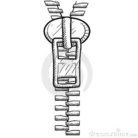 how to make zipper doodle zipper clothing sketch stock photos image 22526113