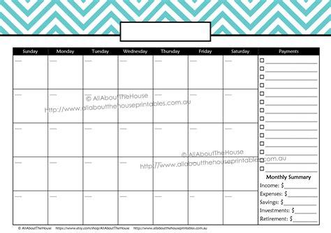monthly calendar editable the peaceful